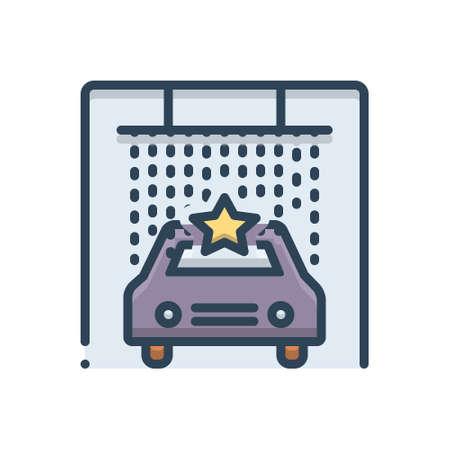 Icon for car, spa Ilustração