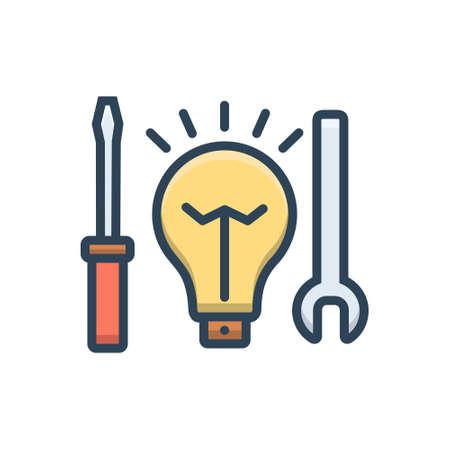 Icon for electric, service Ilustração