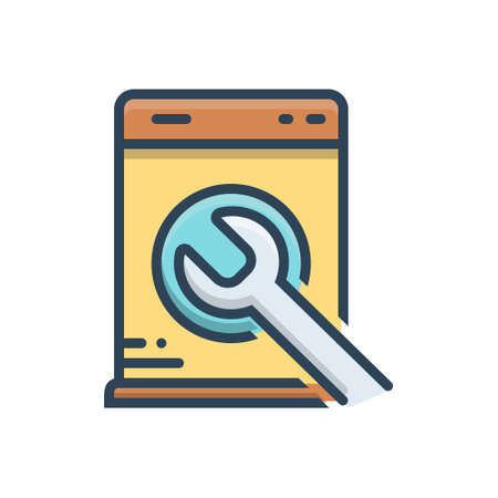 Icon for washing machine repair