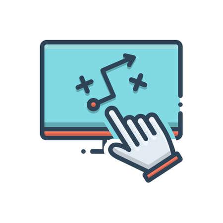 Icon for strategic planning, strategic Ilustração