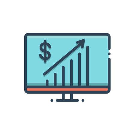 Icon for business progress Ilustração