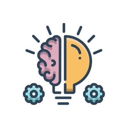 Icon for idea and consideration Ilustração