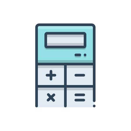 Icon for calculator Ilustração