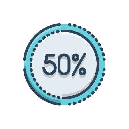 Icon for percentage discount Ilustração