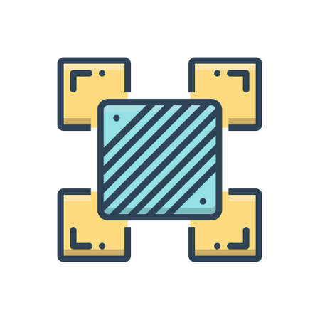 Icon for variance,management 向量圖像