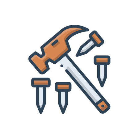 Icon for hammer, nail