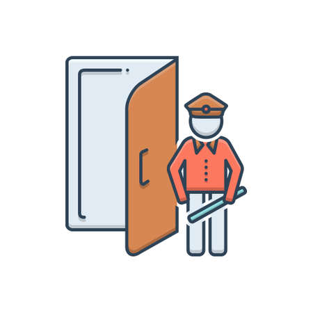 Icon for doorman ,doorkeeper