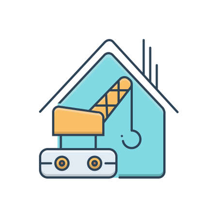 Icon for construction services, construction 向量圖像
