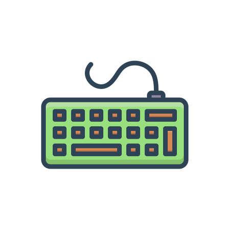 Icon for keyborad clavier