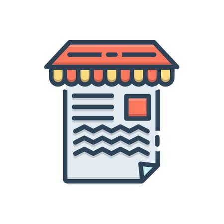 Icon for article marketing Ilustracja