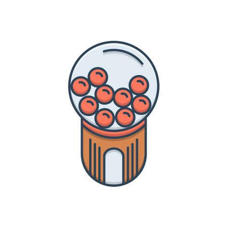 Icon for bubble gum machine  bubble
