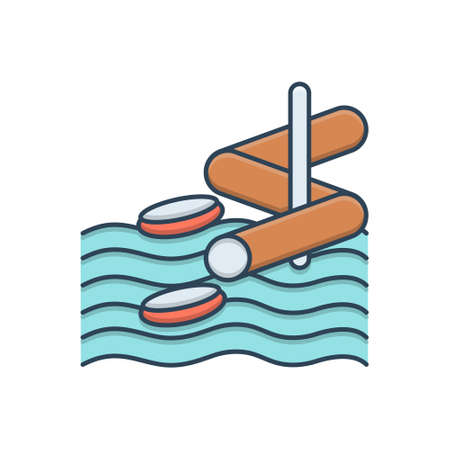 Icon for aqua park or water park