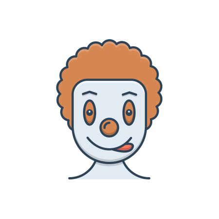 Icon for clown circus