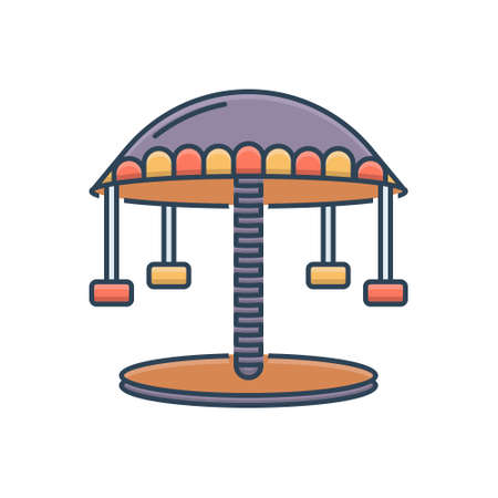 Icon for carousel amusement park Ilustracja