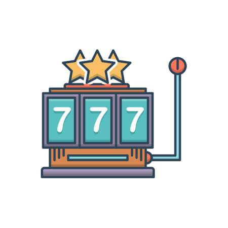 Icon for slot machine gamble