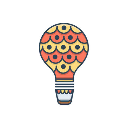 Icon for air balloon  air Ilustracja