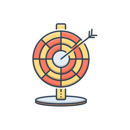 Icon for darts arrows Ilustracja