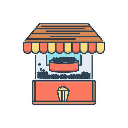 Icon for pop corn machine