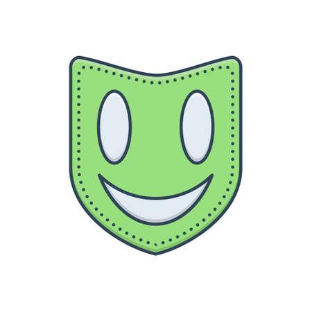 Icon for  face mask Ilustracja