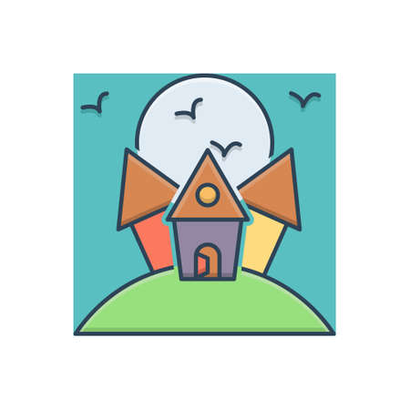 Icon for scary house