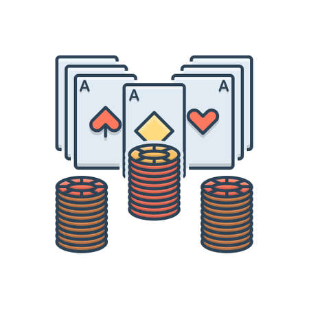 Icon for poker chip