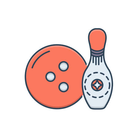 Icon for bowling ball Ilustracja