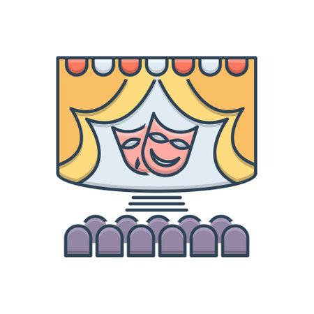 Icon for theatre stage Ilustracja
