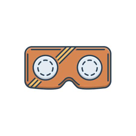 Icon for vr glasses Ilustracja