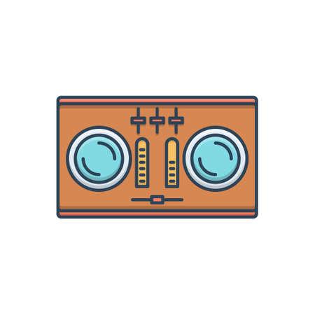 Icon for dj soundboard Ilustracja