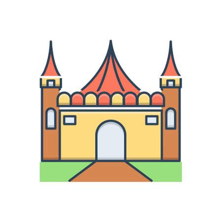 Icon for amusement park Ilustracja