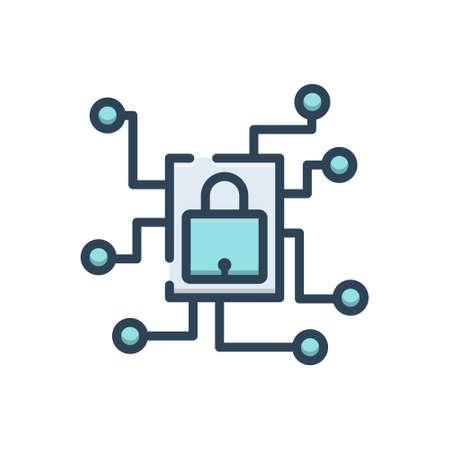 Icon for private network Zdjęcie Seryjne