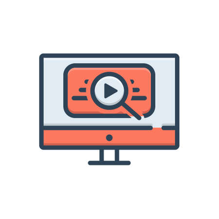 Icon for video search