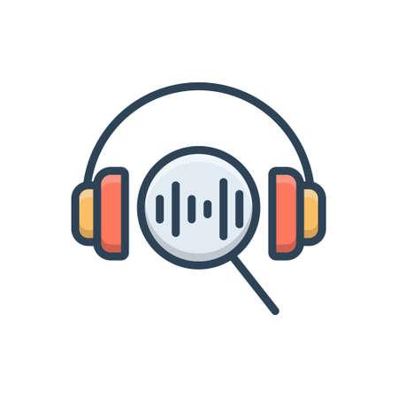 Icon for music search Zdjęcie Seryjne