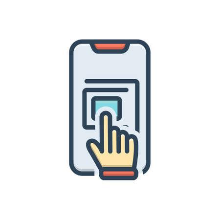Icon for touchscreen hand Zdjęcie Seryjne