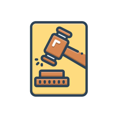 Icon for adjudicate,justice Vecteurs