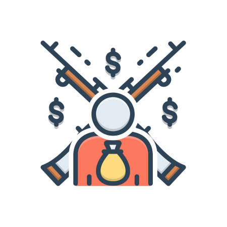Icon for feudalism,feudality 向量圖像