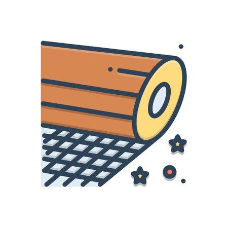 Icon for fiber,plastic