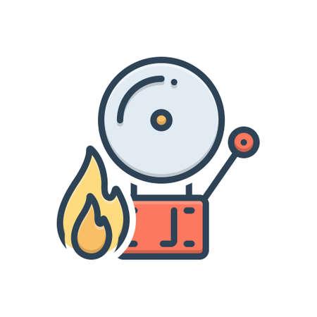 Icon for firealarm,alert 向量圖像