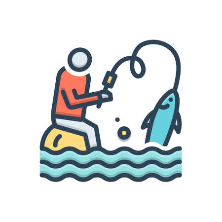 Icon for flyfishing,catch