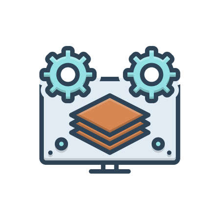 Icon for fullstack,computer