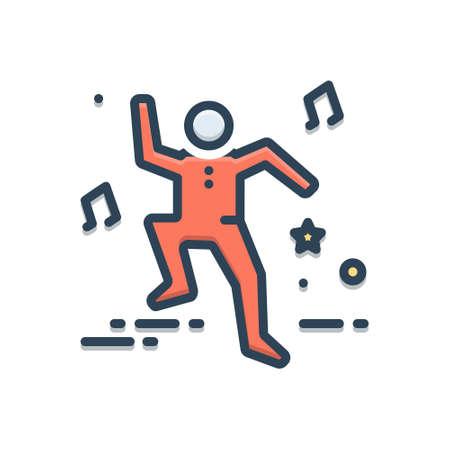 Icon for frisk,dance 向量圖像