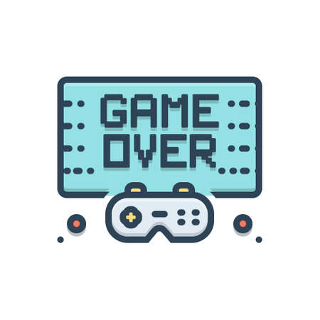 Icon for gameover,video