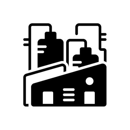 Icon for factory,plant 向量圖像