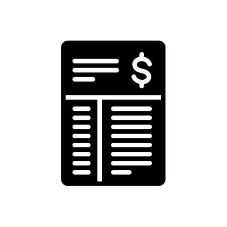 Icon for bill,document