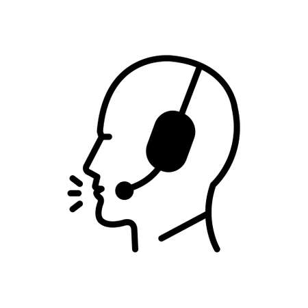 Icon for telemarketer,secretary