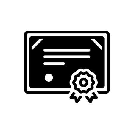 Icon for certificate,affidavit