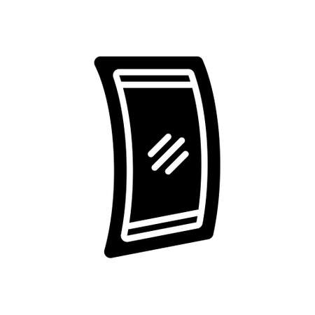 Icon for flexible display, resilient