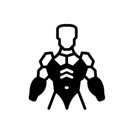 Icon for exoskeleton,armor,armour 向量圖像