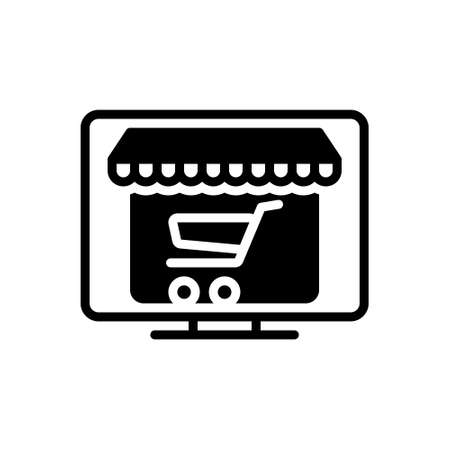 Icon for online shopping,internet Banque d'images