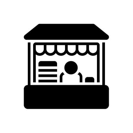 Icon for retail place,boutique Banque d'images